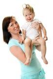 Cuadro de la madre feliz con el bebé Imagen de archivo