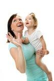 Cuadro de la madre feliz con el bebé foto de archivo libre de regalías