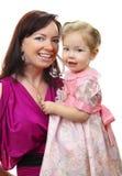 Cuadro de la madre feliz con el bebé imagenes de archivo
