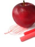Cuadro de la manzana pintado Foto de archivo
