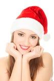 Cuadro de la muchacha bonita de la Navidad Fotos de archivo libres de regalías