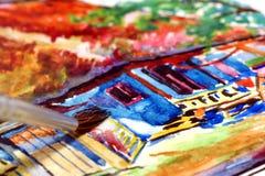 Cuadro de la pintura. Foto de archivo libre de regalías