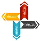 Cuadro de texto colorido del vector Fotos de archivo libres de regalías