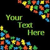 Cuadro de texto con los rompecabezas 02 Fotos de archivo libres de regalías