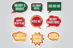 Cuadro de texto de la Navidad para la propiedad de la foto-cabina ilustración del vector