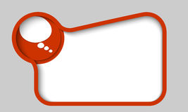 Cuadro de texto para cualquier texto con la burbuja del discurso Foto de archivo libre de regalías