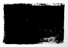 Cuadro de texto rectangular Manchas de aceite negras del vector aisladas en blanco Elementos texturizados dibujados mano del dise libre illustration