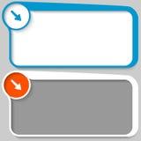 Cuadro de texto y flecha Foto de archivo libre de regalías