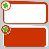 Cuadro de texto y hoja de trébol Imágenes de archivo libres de regalías