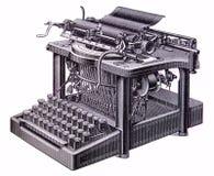 Cuadro de una máquina de escribir vieja Imagen de archivo libre de regalías
