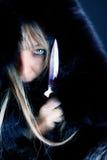 Cuadro del asesino rubio Imagen de archivo libre de regalías