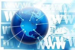 Cuadro del concepto de las conexiones del Internet y de WWW Imagen de archivo libre de regalías