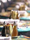 Cuadro del fondo de condimentar en el restaurante Tabl Foto de archivo libre de regalías