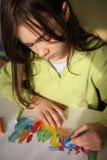 Cuadro del gráfico de la muchacha Imagen de archivo libre de regalías