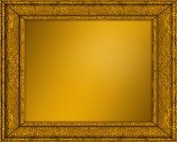 cuadro del oro o marco de la foto Imagen de archivo libre de regalías
