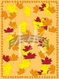 Cuadro del otoño en slyle japonés Imagen de archivo