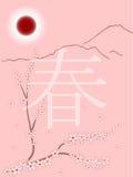 Cuadro del resorte en estilo japonés Imágenes de archivo libres de regalías