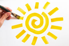 Cuadro del sol fotos de archivo libres de regalías