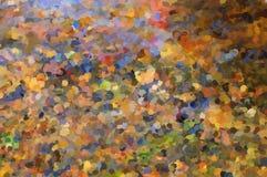 cuadro Hojas y piedras de otoño en la parte inferior del río imagenes de archivo