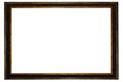 Cuadro oscuro del marco de madera aislado imagen de archivo