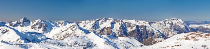 Cuadro panorámico de las montan@as francesas Fotos de archivo