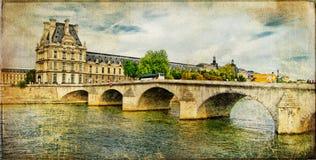 Cuadro parisiense - tarjeta retra ilustración del vector