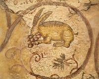 Cuadro romano de los azulejos de un conejo Imágenes de archivo libres de regalías
