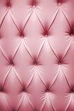 Cuadro rosado del cuero genuino Foto de archivo