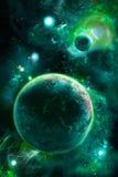 Cuadro verde con el espacio