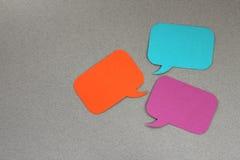 Cuadros de diálogo foto de archivo