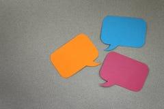 Cuadros de diálogo Imágenes de archivo libres de regalías