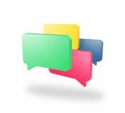 Cuadros de mensaje en blanco ilustración del vector