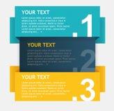 Cuadros de texto coloridos del vector, bandera de las opciones Fotos de archivo