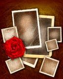 Cuadros del grunge de la tarjeta del día de San Valentín Imagen de archivo libre de regalías