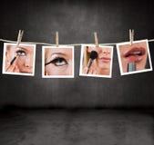 Cuadros del maquillaje Imágenes de archivo libres de regalías