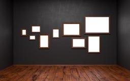 Cuadros en blanco de diversas tallas Fotos de archivo libres de regalías