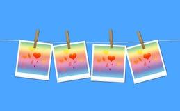 Cuadros polaroid Imagen de archivo libre de regalías