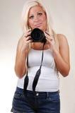 Cuadros que hablan de la muchacha Fotos de archivo
