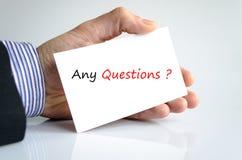 Cuaesquiera preguntas Imagen de archivo