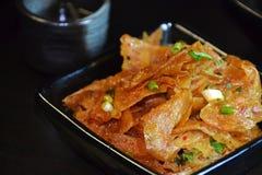 Cuajada de habichuelas frita picante de la comida china fotografía de archivo libre de regalías