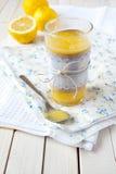 Cuajada de limón Imágenes de archivo libres de regalías