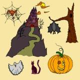 Cualidades para el día de fiesta de Halloween de la celebración Imágenes de archivo libres de regalías
