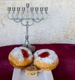Cualidades y símbolos judíos del día de fiesta de Jánuca fotografía de archivo libre de regalías