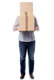 Cualquier persona lleva esto las cajas foto de archivo libre de regalías