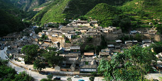 Cuandixia village. In suburban district of Beijing,it is built up in Ming Dynasty stock photo