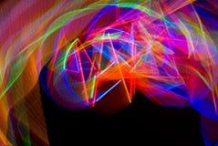 Cuando chocan los arco iris - Graffitti ligero imágenes de archivo libres de regalías
