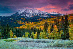 Cuando la caída viene a Colorado Imagen de archivo