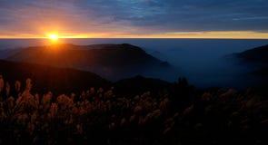 Cuando sube el sol Fotos de archivo libres de regalías