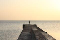 Cuando usted ama la salida del sol sobre el mar fotos de archivo libres de regalías
