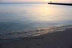 Cuando usted ama la salida del sol sobre el mar foto de archivo libre de regalías